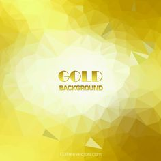 Gold Polygonal Triangular Background Template