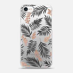 Casetify iPhone 7 Snap Case - Pink Gold Mistletoe by Emanuela Carratoni