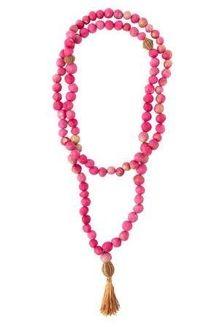 In Gratitude Bead Necklace - Pink