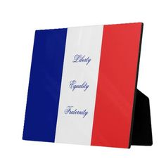 France flag liberty, equality, fraternity photo plaque