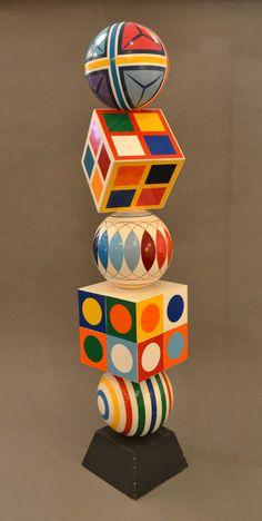Geo-Pop Totemic Sculpture by Robert Zeidman