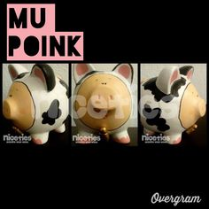 Alcancia poink niceties piggybank ahorros cool vaca mu handmade hechoamano like gift puerquito craft arte Artesanias