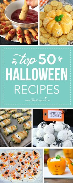 Top 50 Halloween Recipes …I've rounded up some absolute fantastic Halloween dips, side dishes and entree's that are sure to WOW at your next Halloween Party! Get ready everyone! Today I'm sharing the…More Halloween Dip, Halloween Tags, Halloween Desserts, Halloween Dishes, Halloween School Treats, Hallowen Food, Halloween Camping, Halloween Food For Party, Halloween Potluck Ideas
