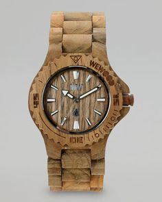 Date Teak Wooden Watch by WeWood Watches at Neiman Marcus.