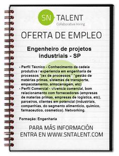 #Empleo #Engenheiro de Projetos Industriais (area comercial) en #Brasil SP