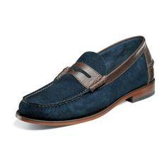 Florsheim Berkley 17058 Mens leather moc toe Penny Loafer shoe