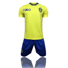 6aa4e9b74c1 2018 Adult Sweden Home Yellow Soccer Jersey Uniforms Russia World Cup  Football Team Kits Custom Name