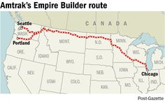 """Looking to take a long-distance trip? The """"Empire Builder turns Chicago trip into a land cruise"""" - Pittsburgh Post-Gazette"""