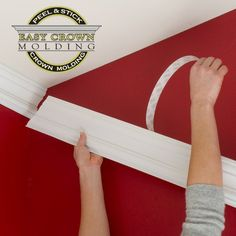 Woodworking Tips Easy Crown Molding Home Renovation, Home Remodeling Diy, Home Improvement Projects, Home Projects, Furniture Projects, Furniture Stores, Easy Crown Molding, Faux Crown Moldings, Molding Ideas