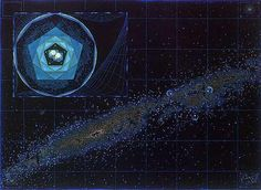 Milky Way Mandala by MAEDA, Josaku. Genius!