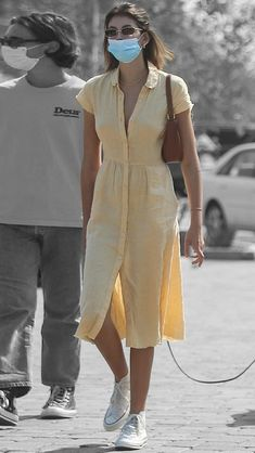 Mena Suvari, Kaia Gerber, Airport Style, Veronica, Sunday, California, Street Style, Shirt Dress, Shirts