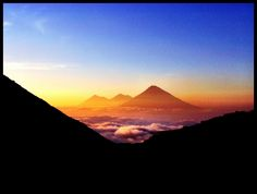 Volcano, Guatemala, sunset, clouds Volcano, Clouds, Sunset, Nature, Sunsets, Naturaleza, Volcanoes, Scenery