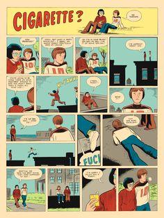 Ghost World's Daniel Clowes tells us about The Death-Ray, his chain-smoking teenage superhero Georges Wolinski, Daniel Clowes, Ghost World, Comic Layout, Graphic Novel Art, Comic Page, Manga Comics, Zine, Illustrators