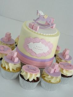 Rocking Horse Cupcakes and Cake combo