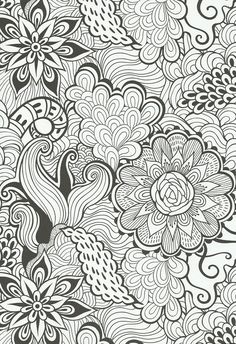 A Page From The Gorgeous Vintage Patterns Creative Colouring Book For Grown Ups