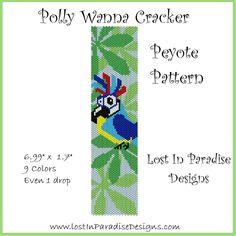 Polly Wanna Cracker Peyote Bracelet Pattern