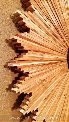 Curb Alert! : DIY Knockoff Wood Shim Starburst Mirror