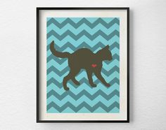 Cat Love Print Pet Art Cat Home Decor Wall by LotusLeafCreations, $10.00