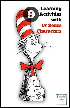 Fun hands on learning activities featuring Dr Seuss Characters
