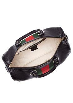 GUCCI Leather Bauletto Medio Vintage Web
