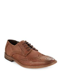 Kenneth Cole Reaction Reprove Leather Oxfords Men's Tan 9