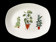 'Plant Life' platter designed by Sir Terence Conran in 1956