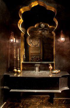 Exotic Moroccan Bathroom Vanity                                                                                                                                                      More