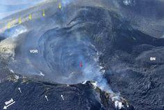 Il Cratere Centrale dell'Etna, nella sua porzione corrispondente alla Voragine