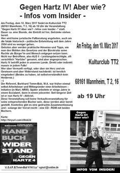 Ma(h)lt sich in diesem Kopf die Welt: Gegen Hartz IV! Aber wie? - Infos vom Insider - Fr, 10. März, 2017, ab 19:00, T 2, 16, 68161 Mannheim