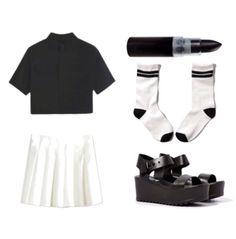 undead tennis match: top   skirt   lipstick   socks   shoes  pastel goth nu goth health goth punk goth fachin coord bh bella persunmall