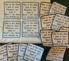 Machine Embroidery Memory Patches for Dad, Daddy, Papa, Pops, Grandad, Granddad, Father, Mum, Mummy, Gran, Granny, Nan, Nanny & will change wording of asked.