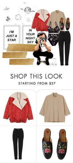 """Untitled #655"" by annagasztold ❤ liked on Polyvore featuring Monki, Topshop and Gucci"