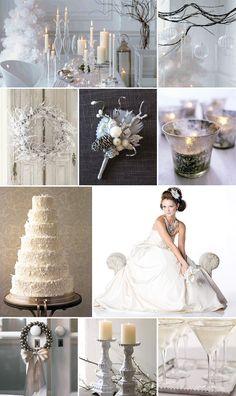 winter white wedding theme | Inspiration: Dreaming of a White Christmas Wedding | Pixel & Ink