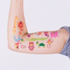 colorful animal temporary tattoos @ tattly.com