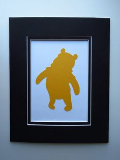 Winnie the Pooh Silhouettes Set of 6 by MonkeyCs on Etsy