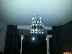 Hanglamp van bacardi flessen