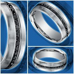 Diamonds aren't just a woman's best friend.. check out the Channel Black Diamond Men's Wedding Ring in Platinum. http://blog.brilliance.com/2013/channel-black-diamond-mens-wedding-ring