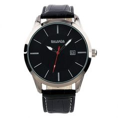 ESS New Mens Classic Black Dial Auto Date Leather Quartz Wrist Watch WM246 ESS. $14.99. artificial leather band. come with black gift box. 100% Brand new. stainless steels watch case. precision Japanes quartz movement