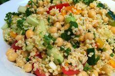 Kruidige bulgur salade met kikkererwten - Francesca Kookt