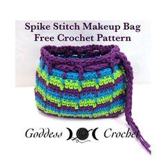 Free Crochet Pattern – Spike Stitch Makeup Bag