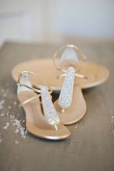 Beach weddings are always in trend because they are very romantic and relaxed. Today id' like to inspire brides with fantastic beach wedding sandals and footwear.