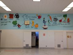 Lunchroom mural for Rebuilding Together.  Designed by Shannon Geis, painted by corporate volunteers