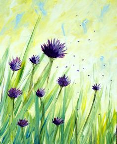 They Call Me Mellow Meadow at The Clocktower Pub - Glebe - Paint Nite Events near Ottawa, ON> Painting & Drawing, Watercolor Paintings, Watercolour Flowers, Wine And Canvas, Easy Paintings, Acrylic Paintings, Beginner Painting, Acrylic Art, Pictures To Paint