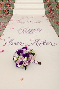 disney-wedding-photos-I like the purple but blue is nice also! Nice runner~perfect for you Wedding Wishes, Wedding Blog, Wedding Planner, Our Wedding, Dream Wedding, Wedding Photos, Wedding Stuff, Wedding Bouquets, Wedding Flowers