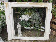 kuchenschranke innen streichen : Vintage Bilderrahmen - altes Fenster Bilderrahmen Utensilo shabby chic ...