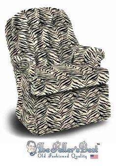 Zebra Print Swivel Rocker Chair