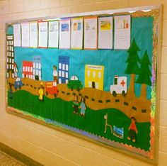 Community Helpers bulletin board