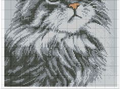 szary 4 Counted Cross Stitch Patterns, Cross Stitch Charts, Cross Stitch Designs, Cross Stitch Embroidery, Cat Whiskers, Cat Crafts, Crossstitch, Cats And Kittens, Crochet Projects