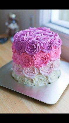3 layer flower cake