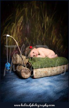 Crochet Baby Boy Fisherman Set, Custom Made To Order Handmade Newborn Photo Photography Prop Baby Shower Gift Beanie Cap. $25.00, via Etsy.